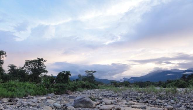 El río Pilcomayo desde la finca